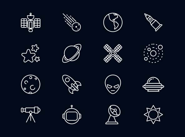 Space Vector Icons Ai