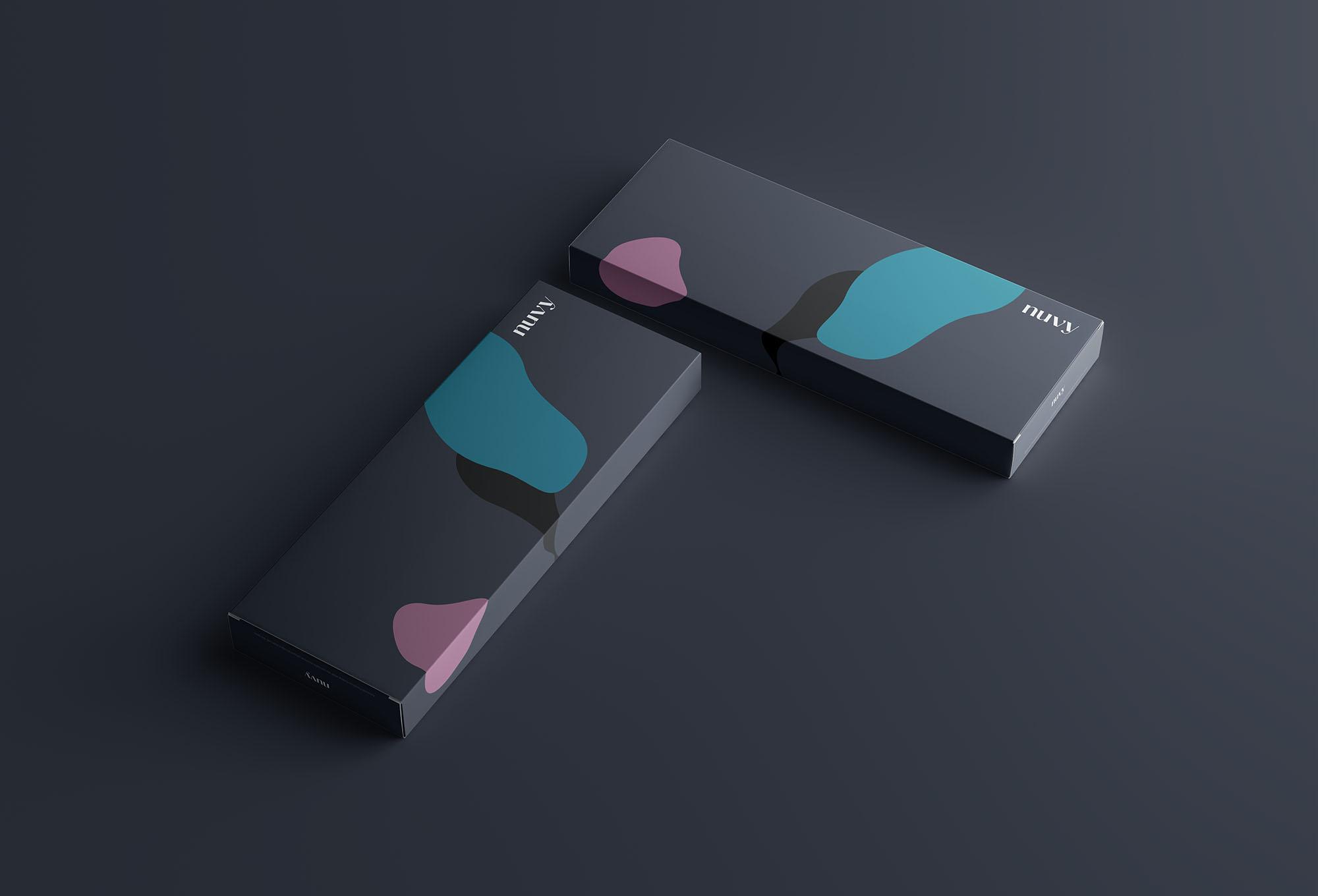 Rectangular Box Mockup Dark 3