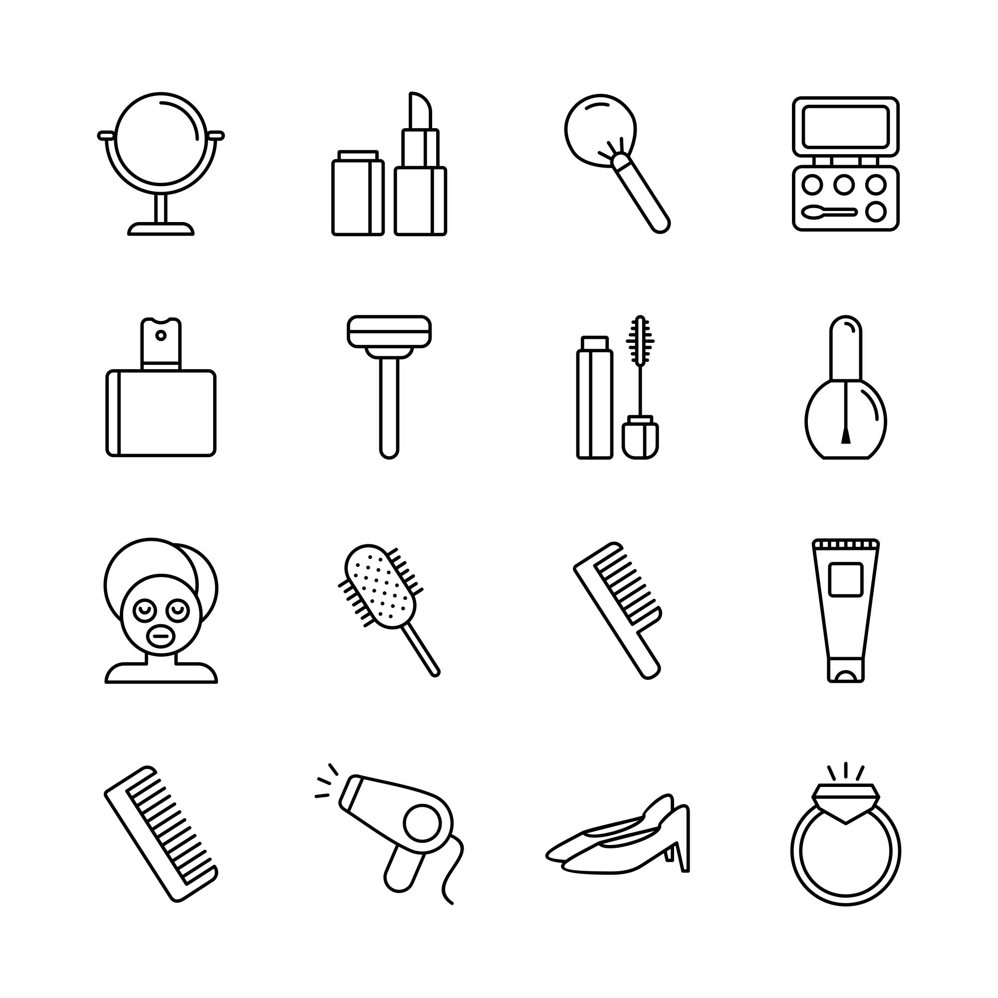 Beauty Vector Icons - Part 01