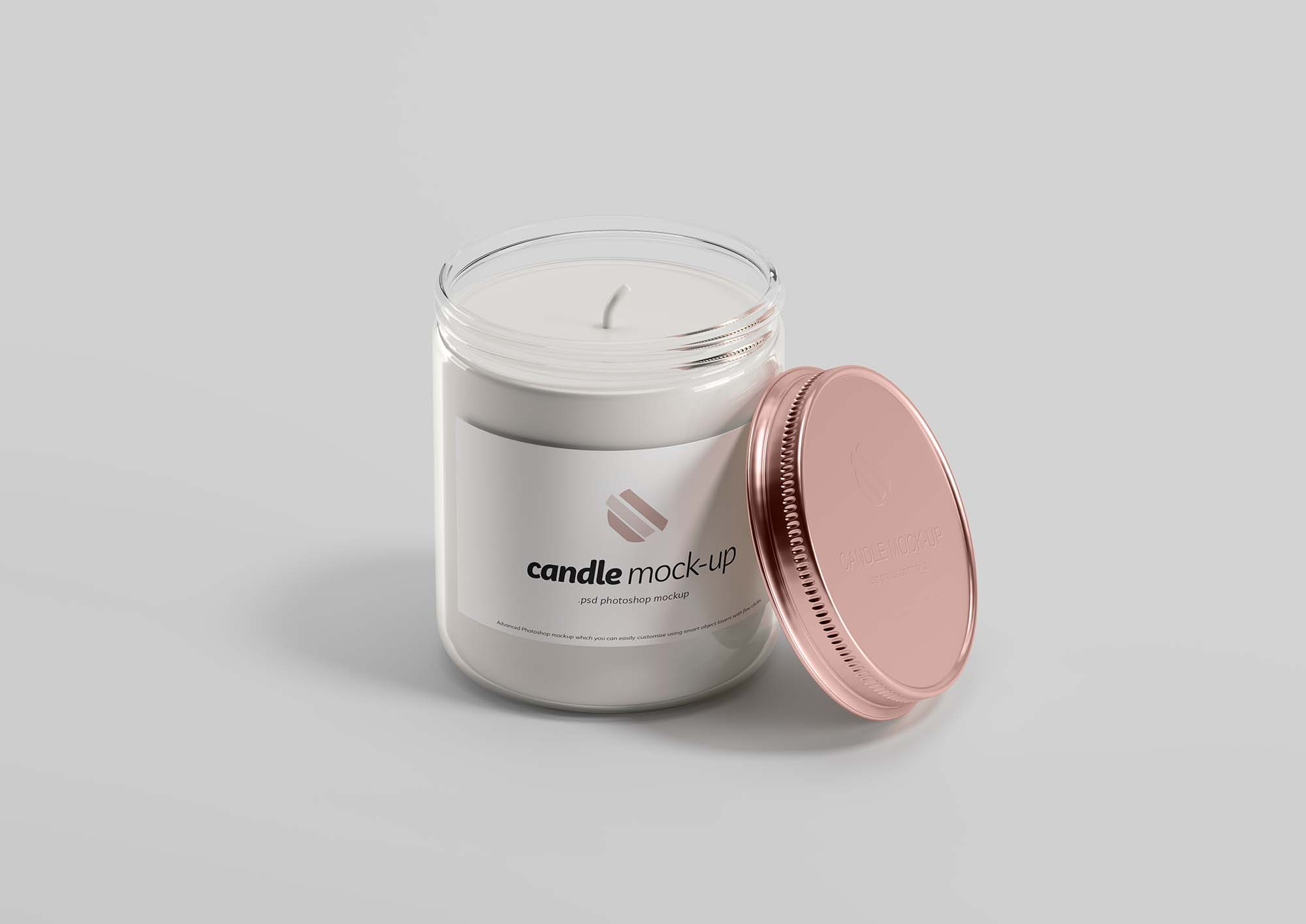 Branded Candle Mockup
