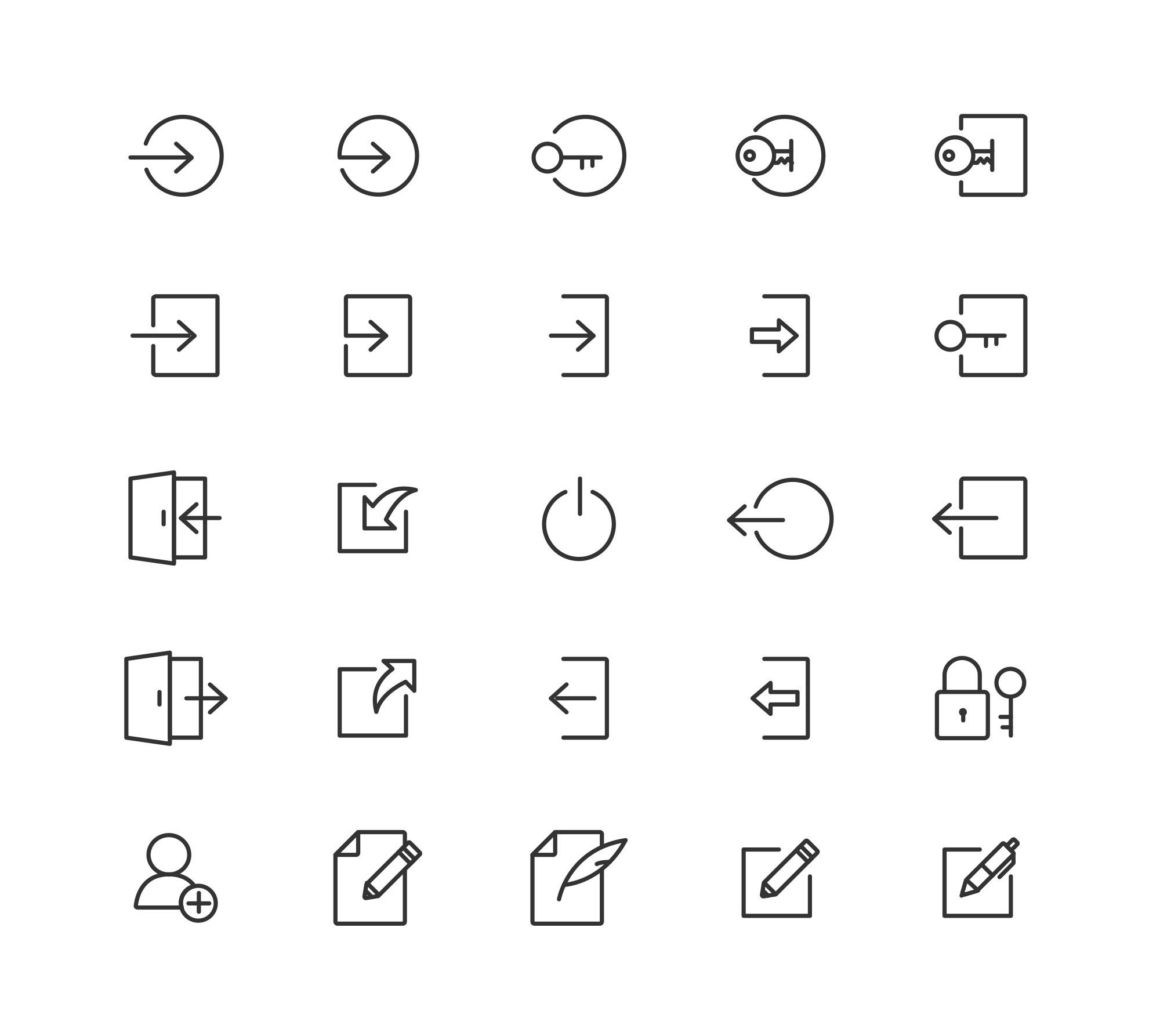 Login & Logout Vector Icons 2