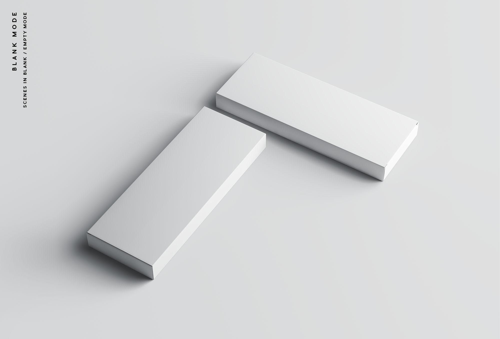 Rectangular Box Mockup - Blank Mode
