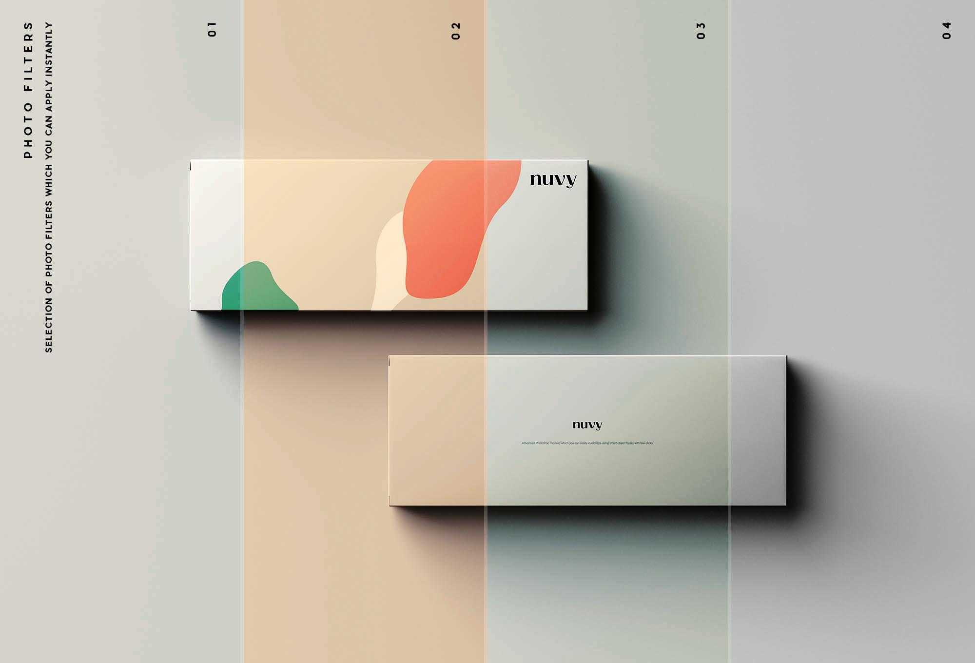 Rectangular Box Mockup Filters