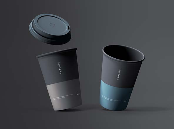 Two Coffee Cups Mockup