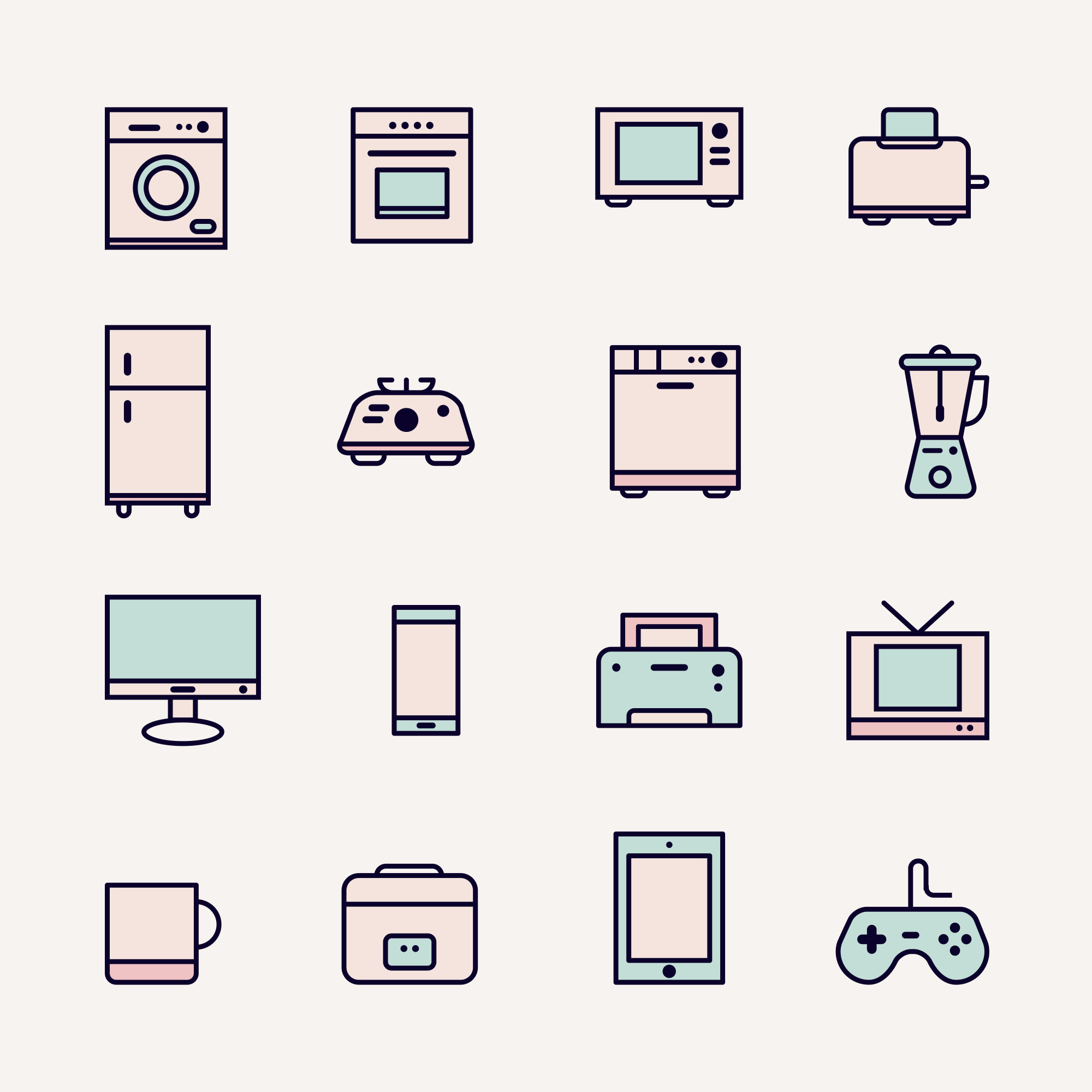Appliances Vector Colored Icons