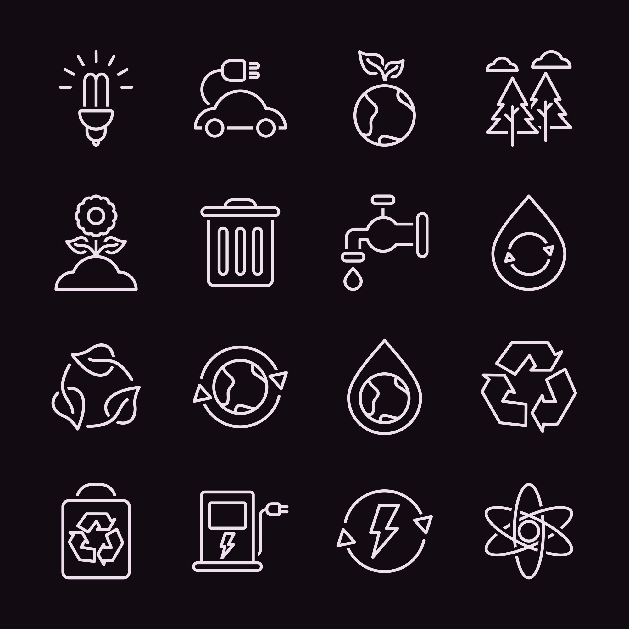 Ecology Vector Icons 2