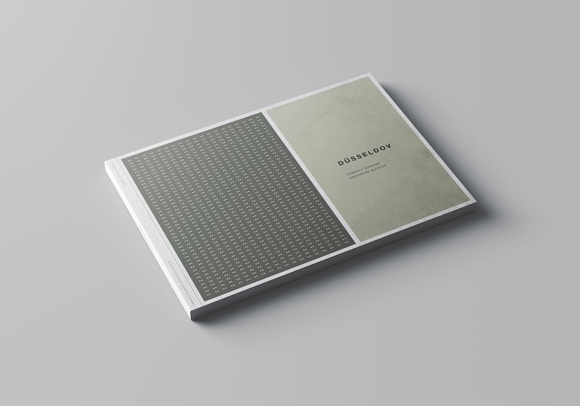 A4 Landscape Perfect Binding Brochure Mockup 1