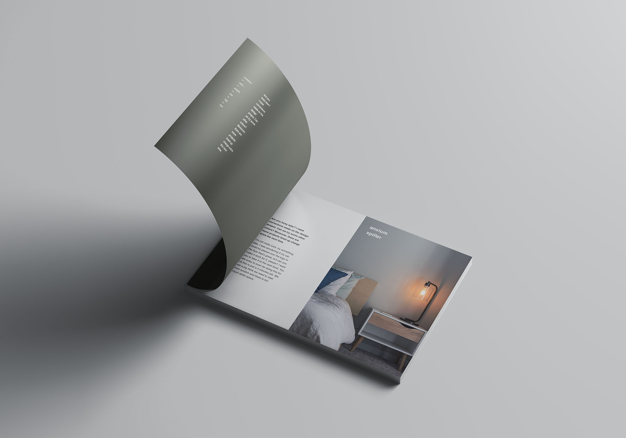 A4 Landscape Perfect Binding Brochure Mockup 3