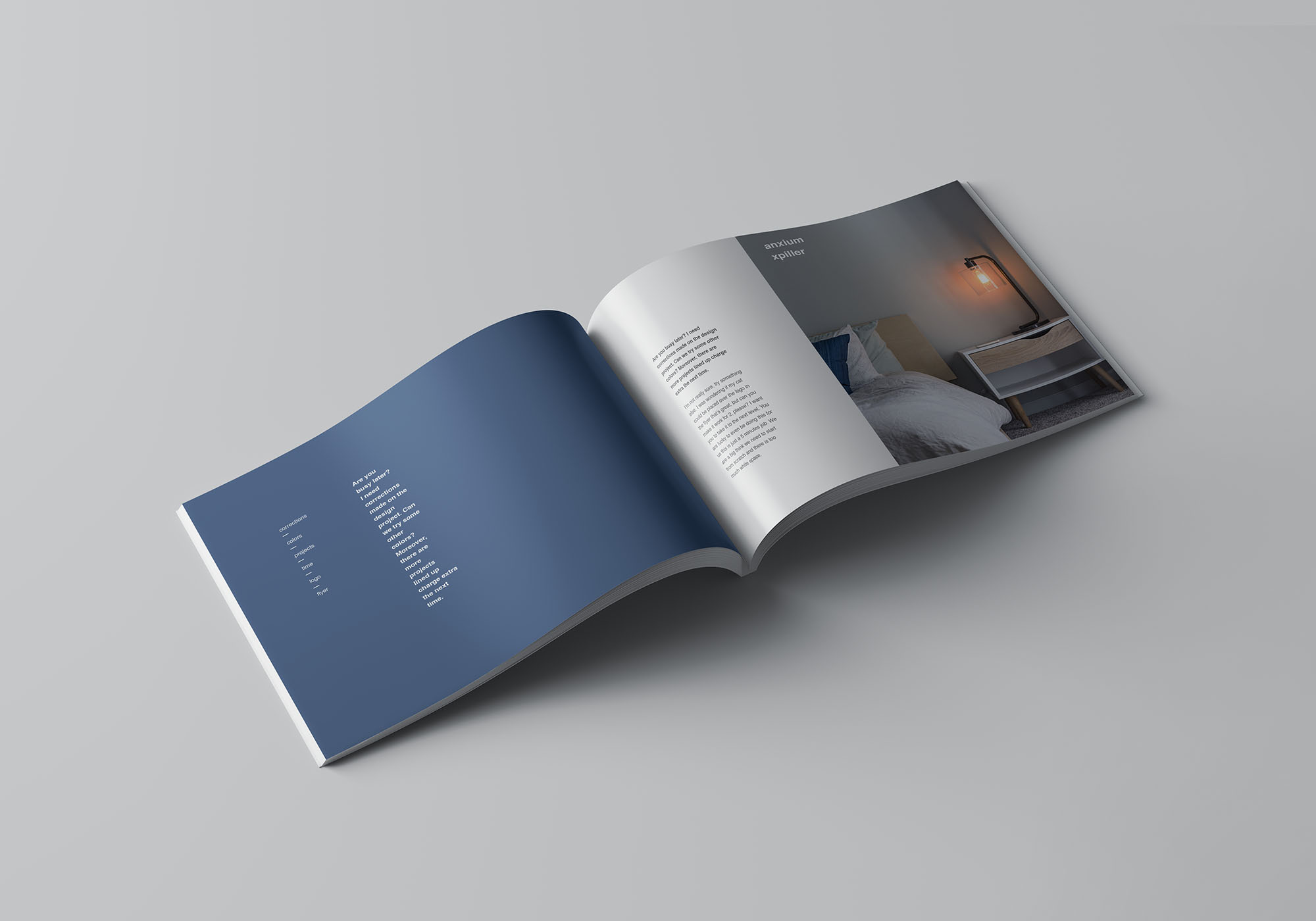 A4 Landscape Perfect Binding Brochure Mockup 4