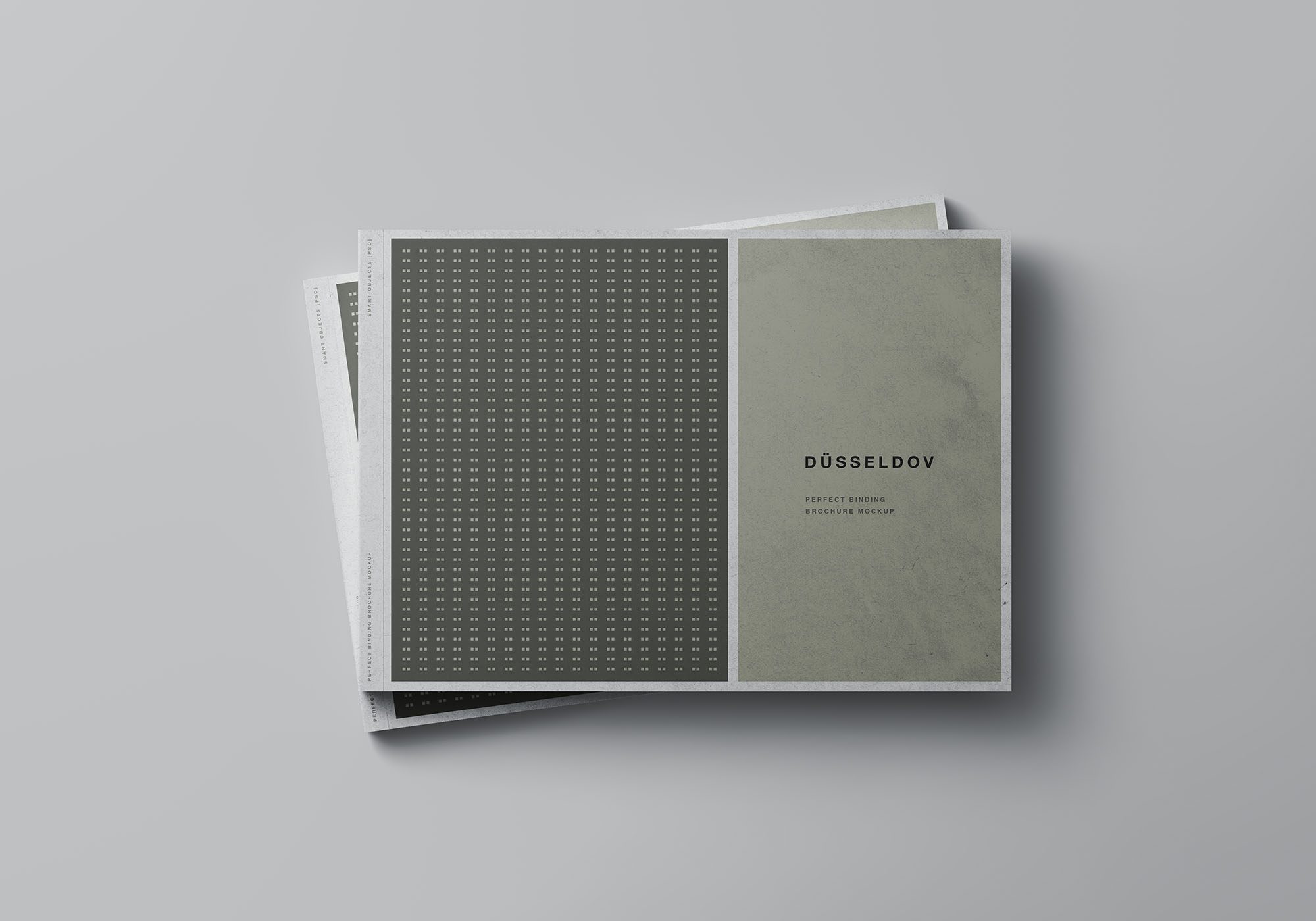 A4 Landscape Perfect Binding Brochure Mockup 6