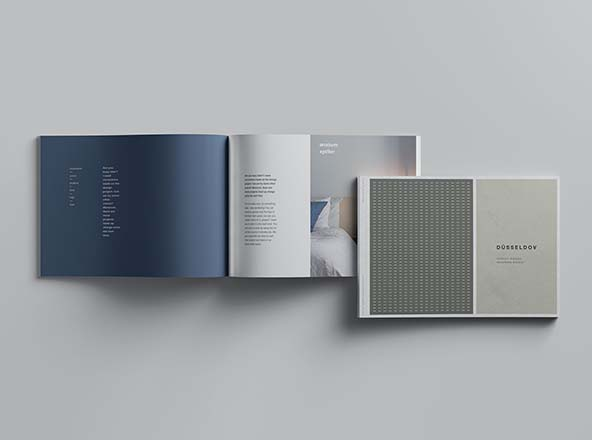 A4 Landscape Perfect Binding Brochure Mockup