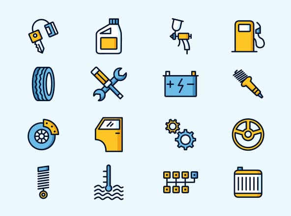 Car Service Icons – Part 02