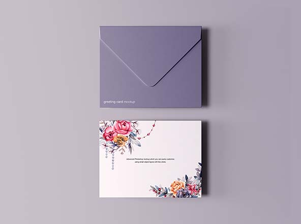 Greeting Card with Envelope Mockup