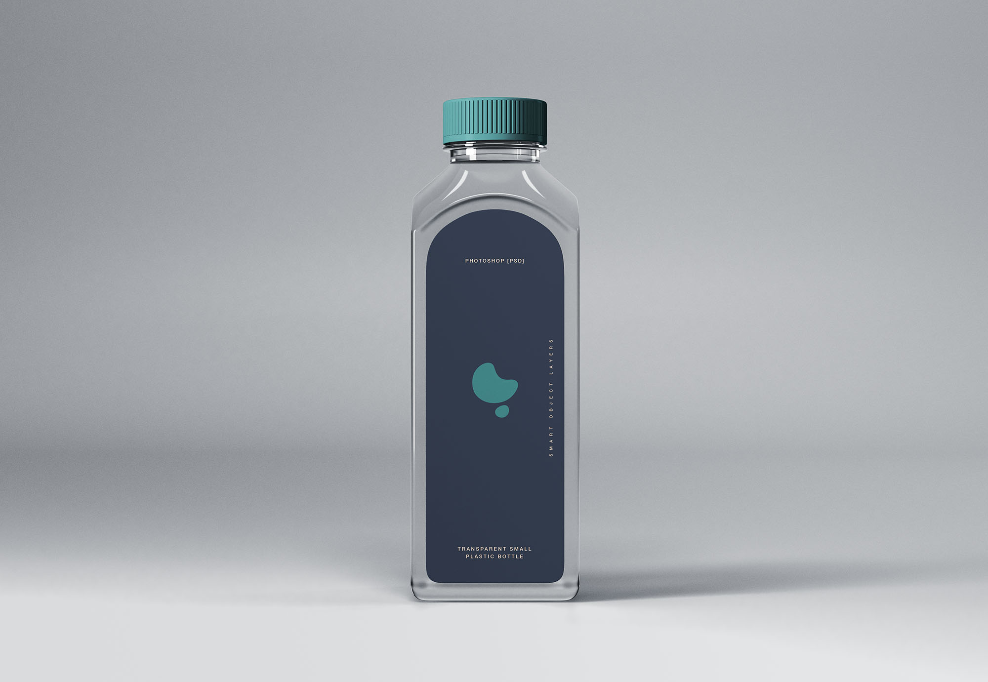 Transparent Small Plastic Bottle Mockup