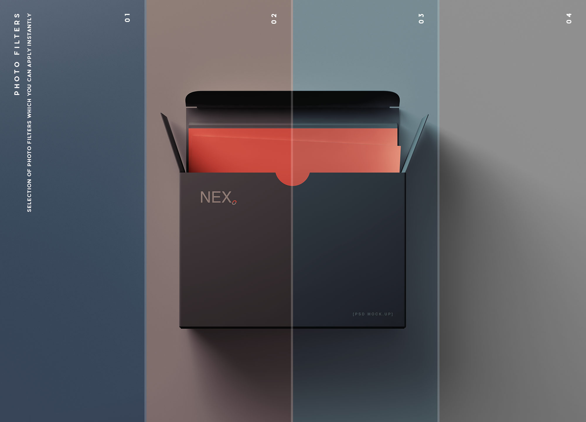 Card Box Mockup Filters