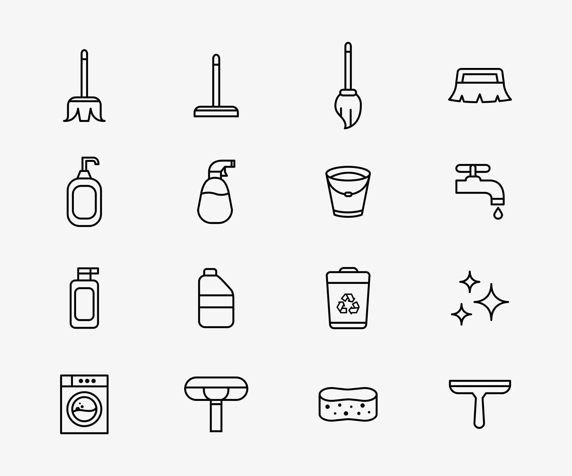Cleaning Vector Icons
