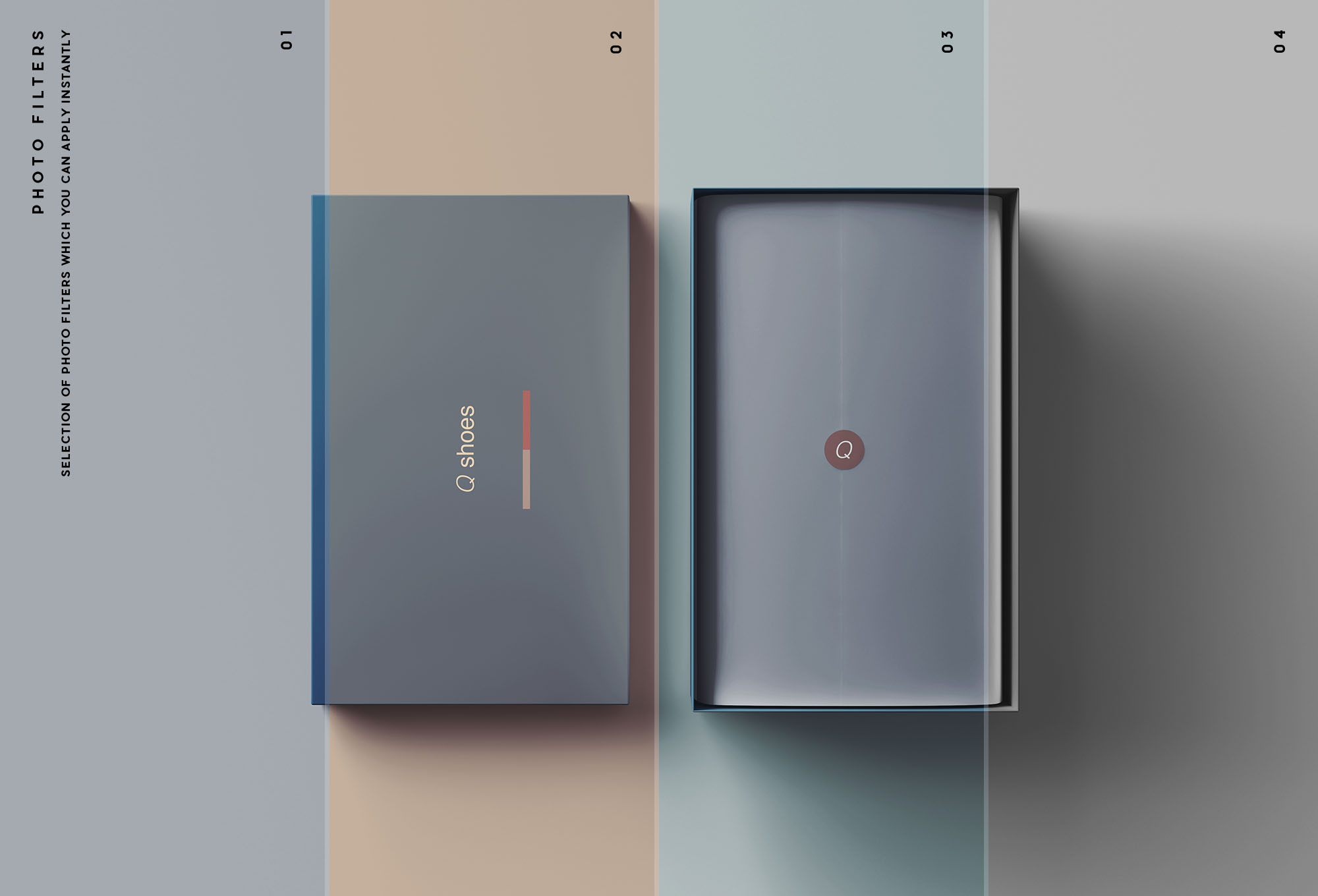 Shoe Box Mockup Filters