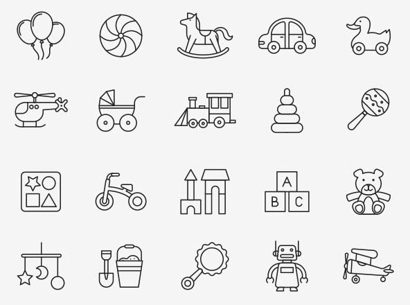 Baby Toys Vector Icons