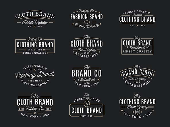 Clothing Vector Badges