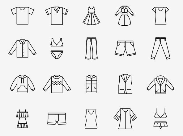 Clothing Vector Icons