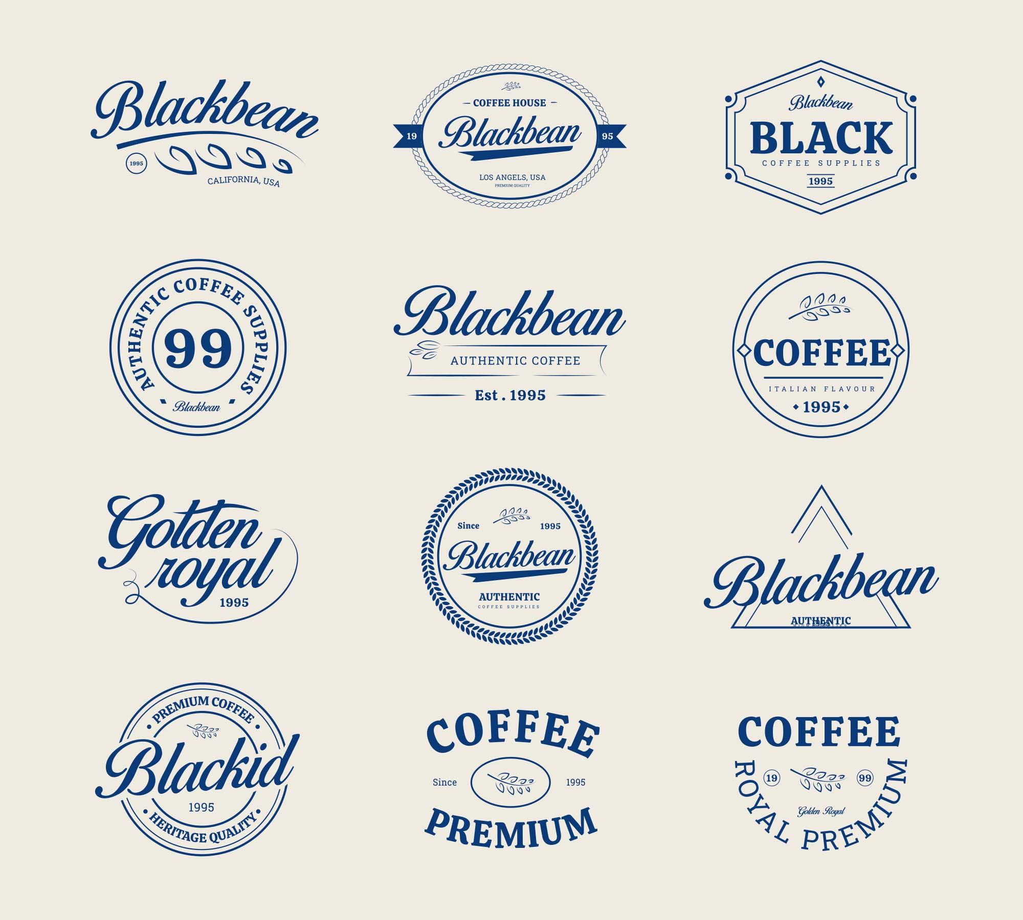 Coffee Shop Vector Badges 3