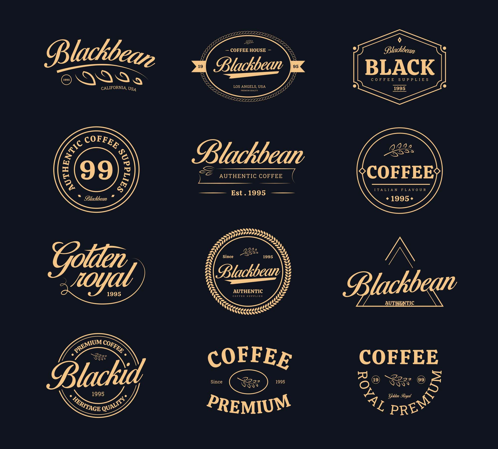 Coffee Shop Vector Badges