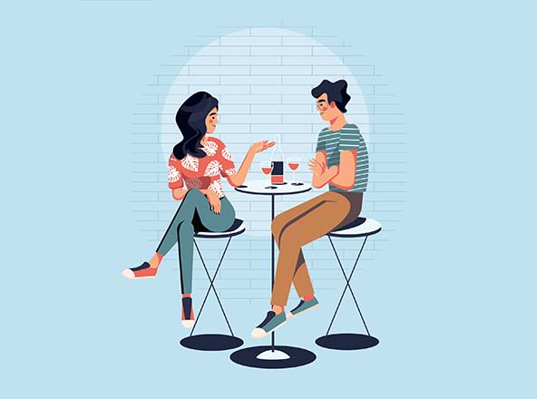 Couple Dating Illustration