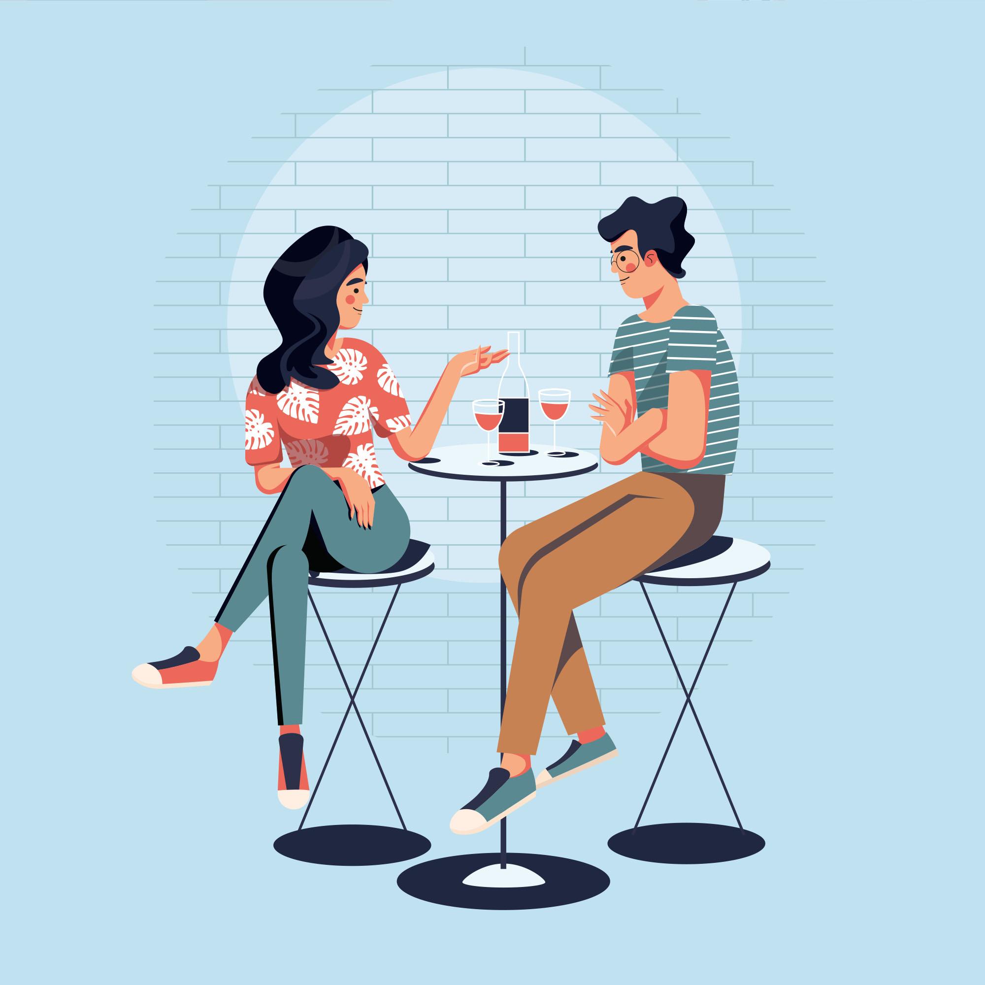 Couple Dating Illustration
