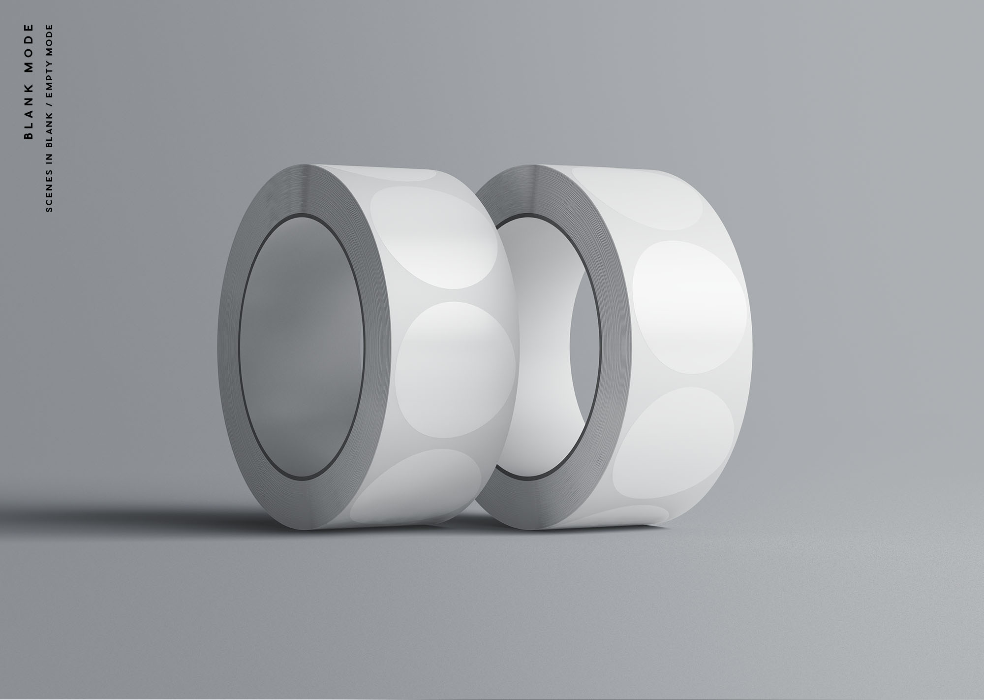 Stickers Roll Mockup - Blank Mode