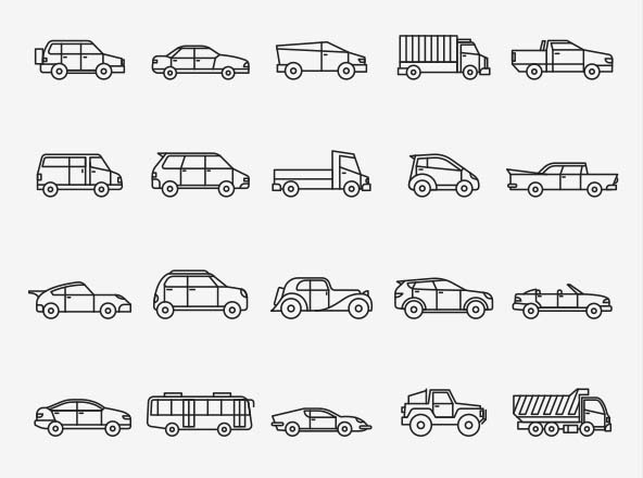 Vehicles Vector Icons