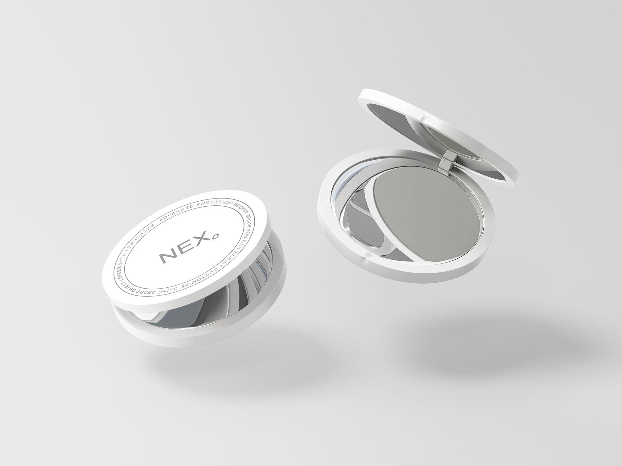 Compact White Mirror Mockup