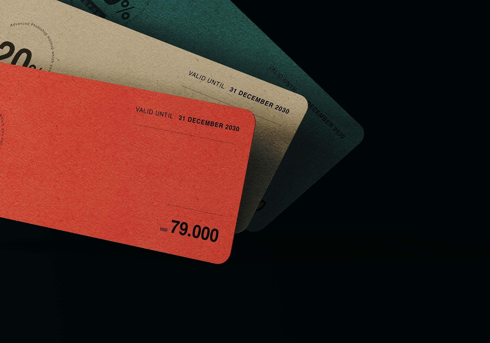 Coupon Card Mockup 2