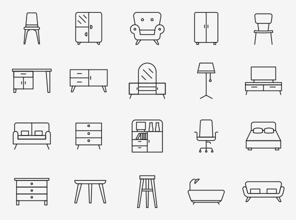 Furniture Vector Icons