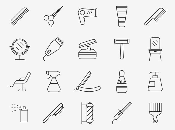 Hair Salon Vector Icons
