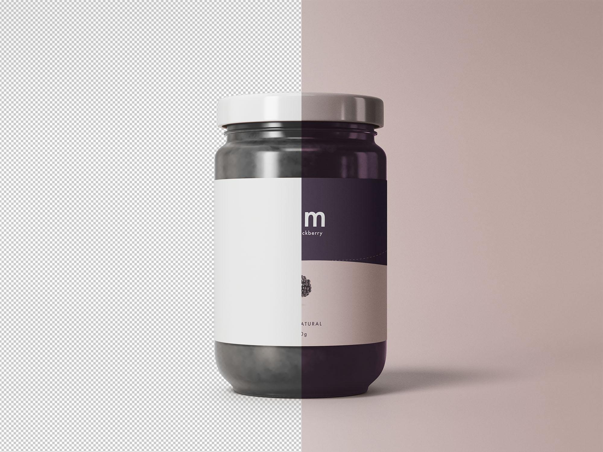 Jam Jar Mockup PSD