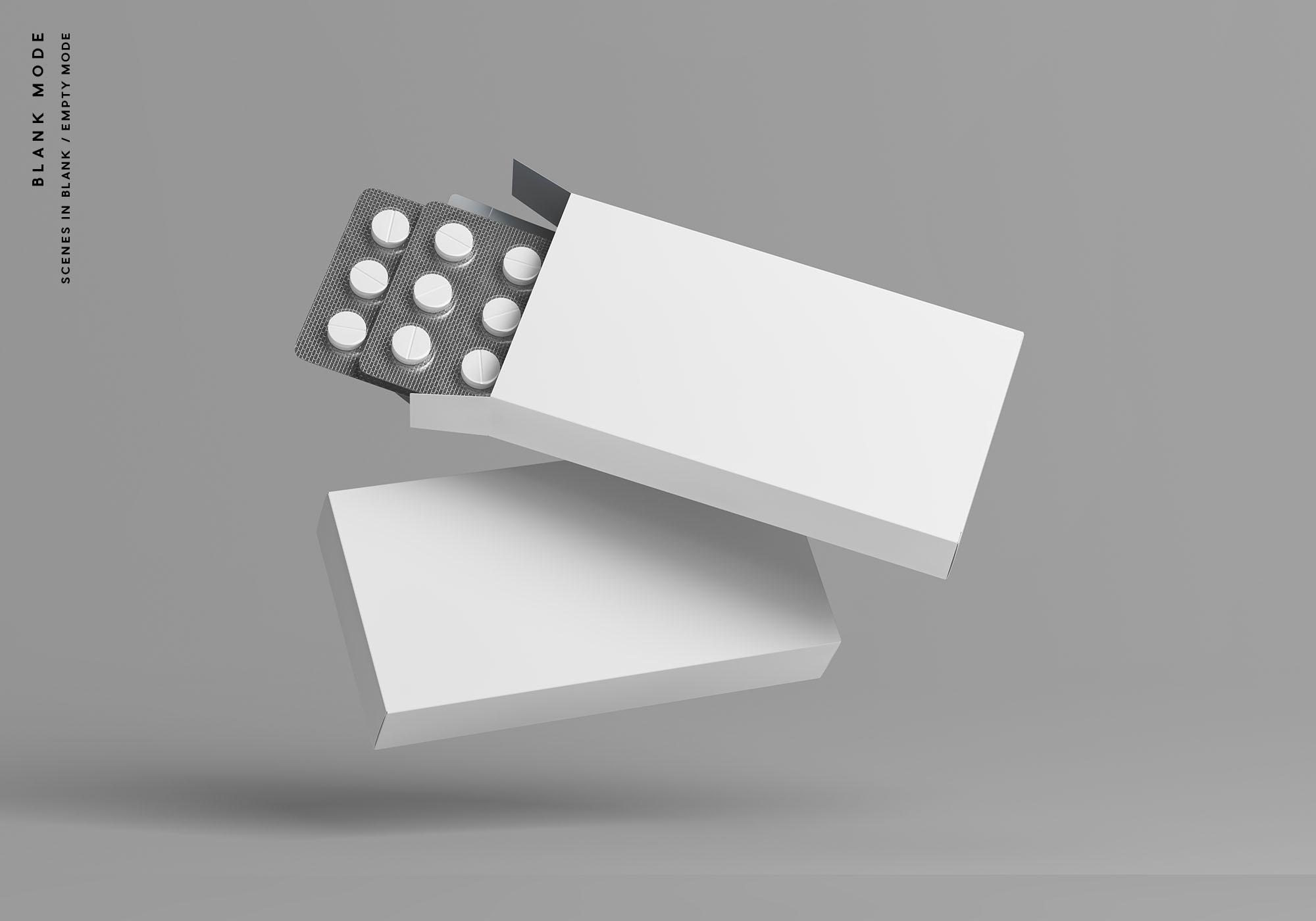 Pills Box Mockup - Blank