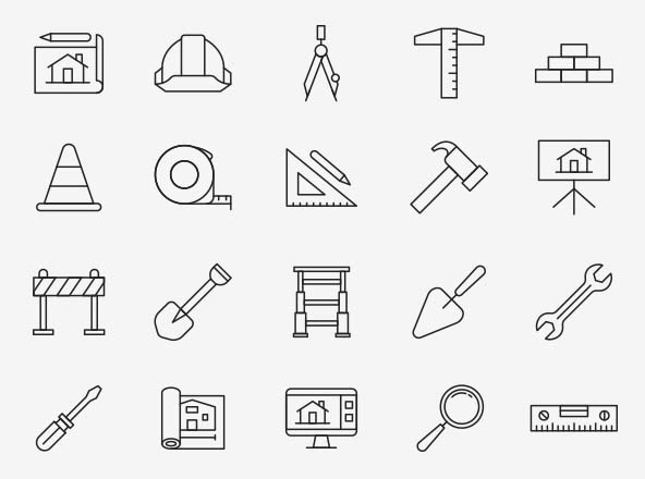 Architecture Vector Icons