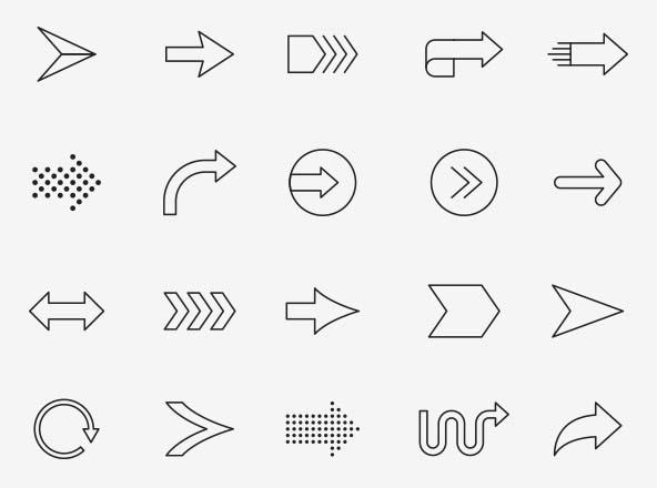 Arrow Vector Icons