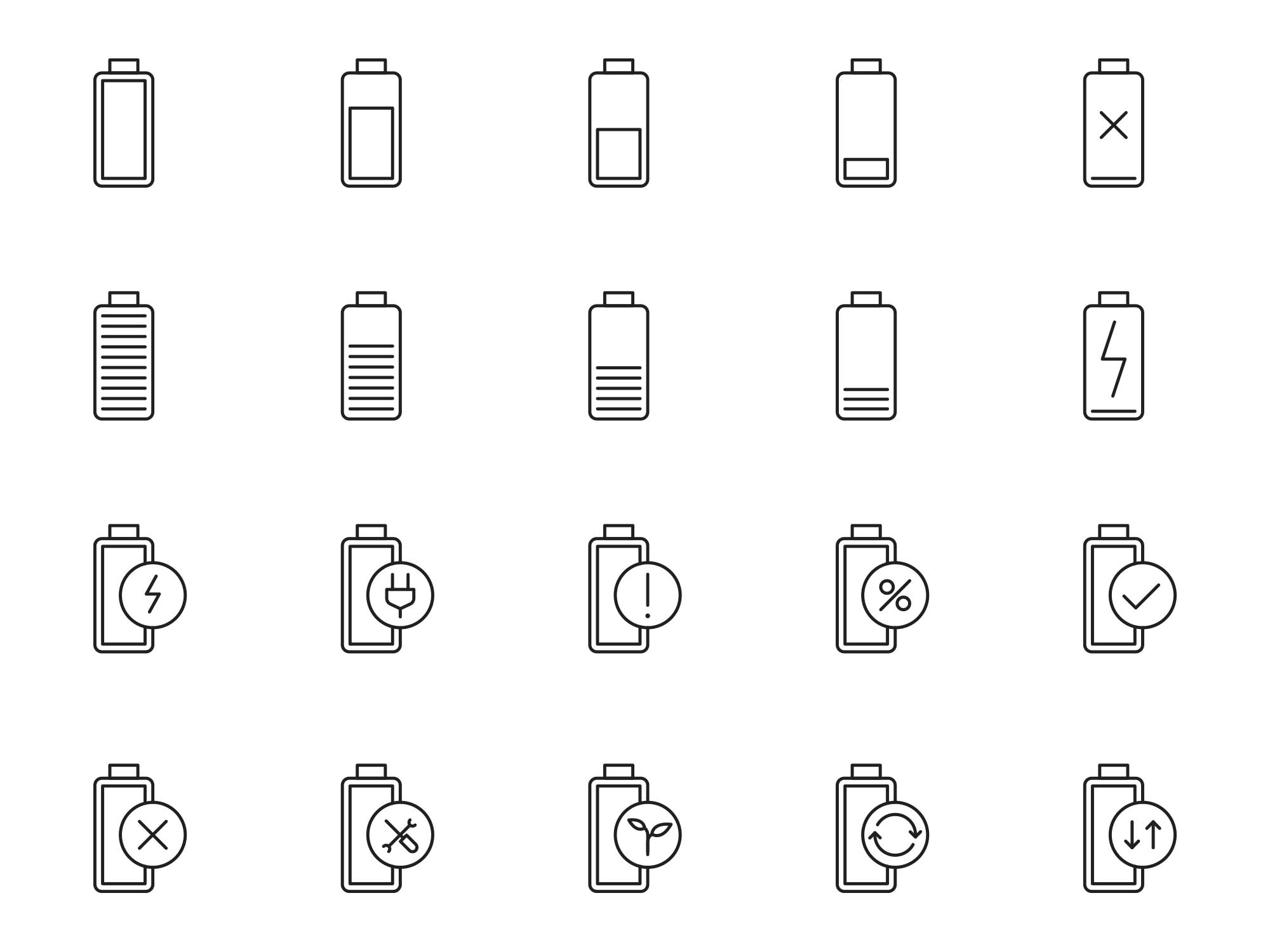 Battery Vector Icons