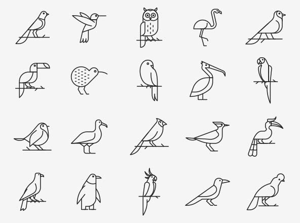 Bird Vector Icons