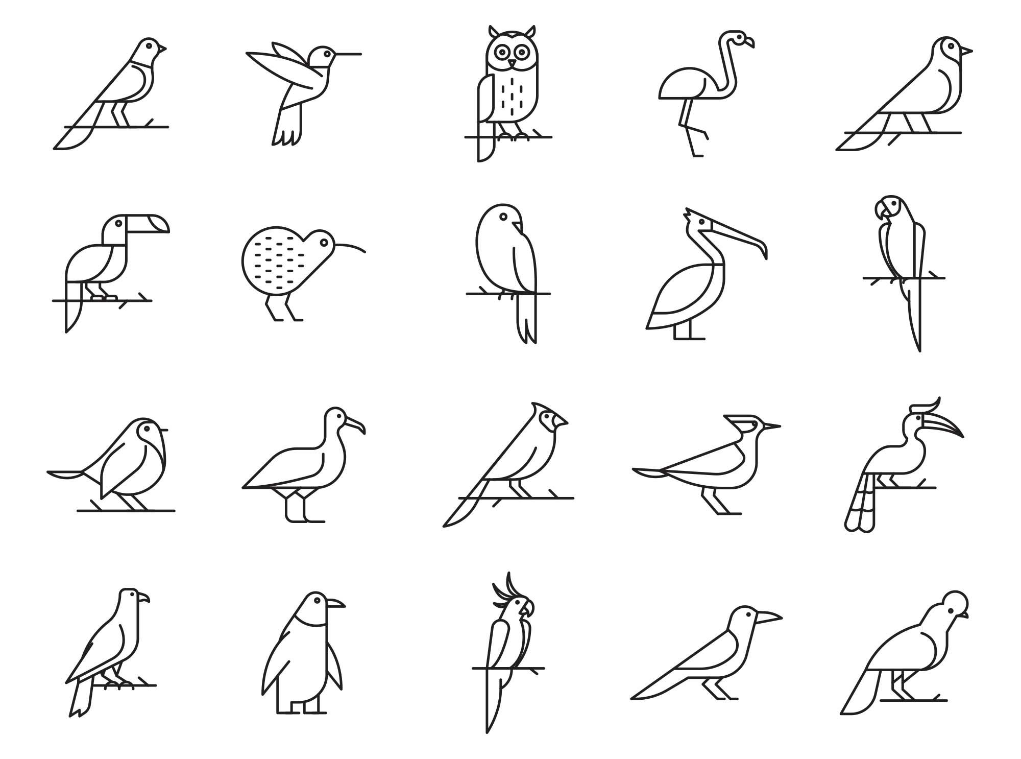 Bird Vector Icons