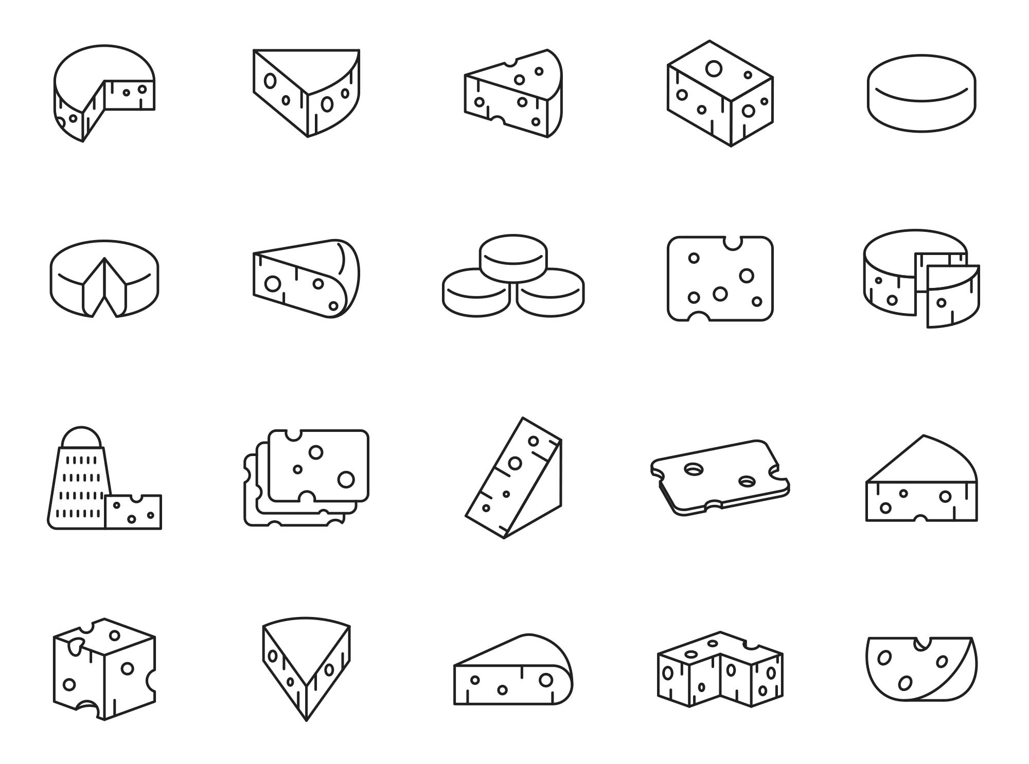 Cheese Vector Icons