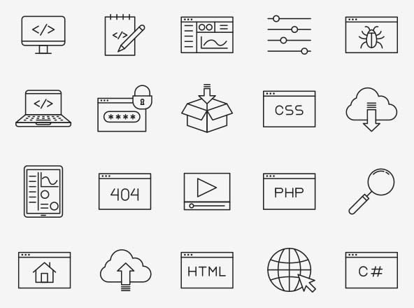 Coding Vector Icons
