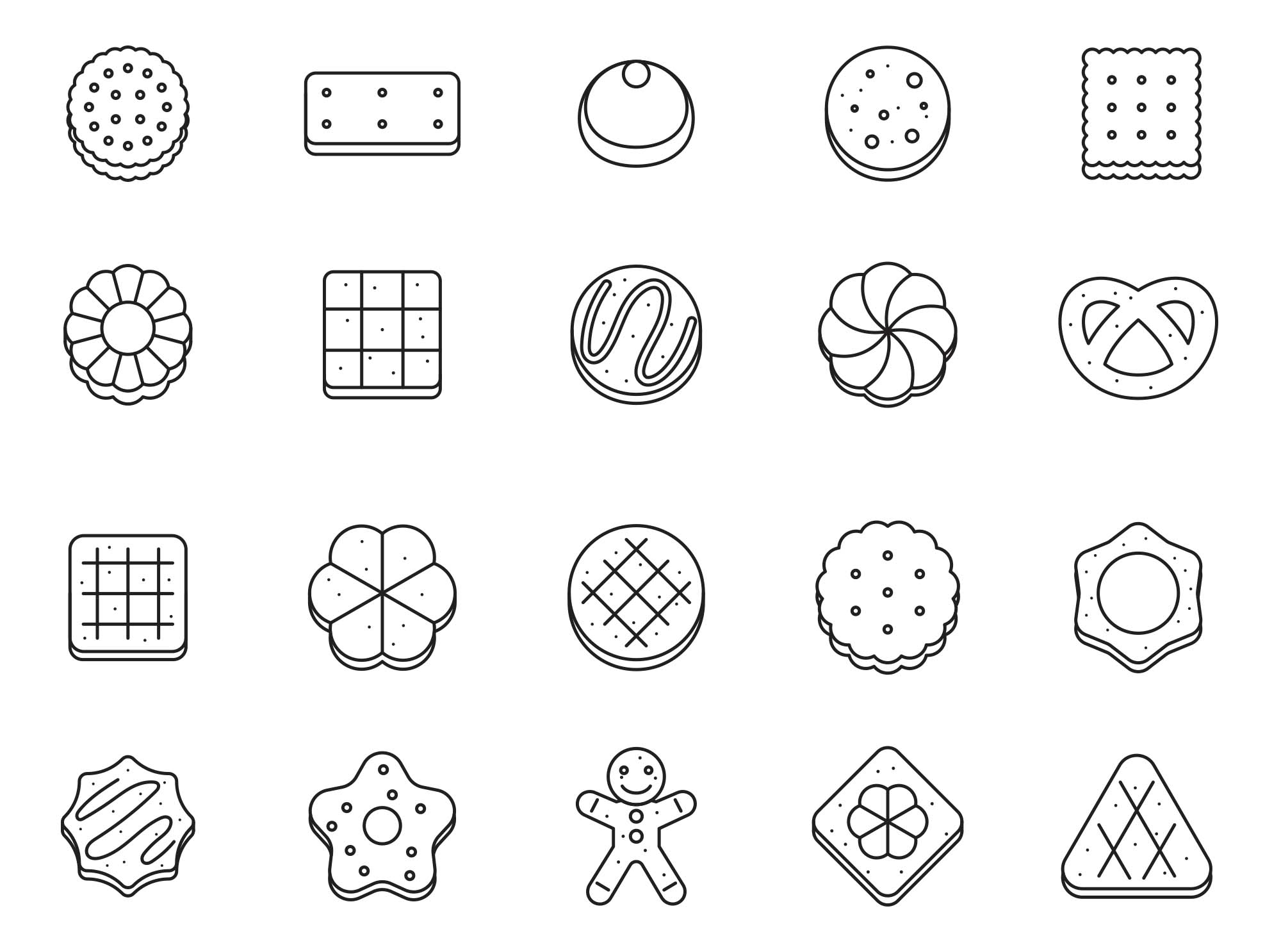 Cookies Vector Icons
