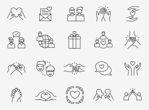 Friendship Vector Icons