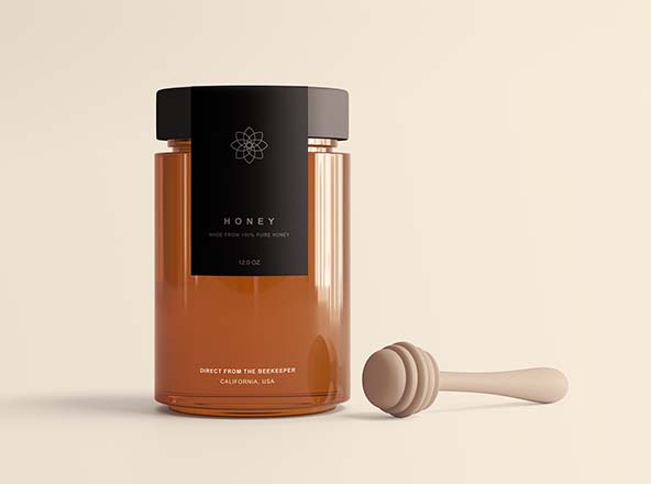 Honey Jar Package Mockup