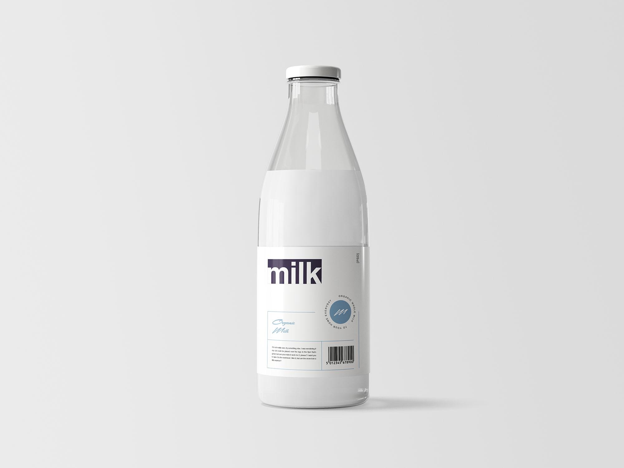 Milk Bottle Mockup