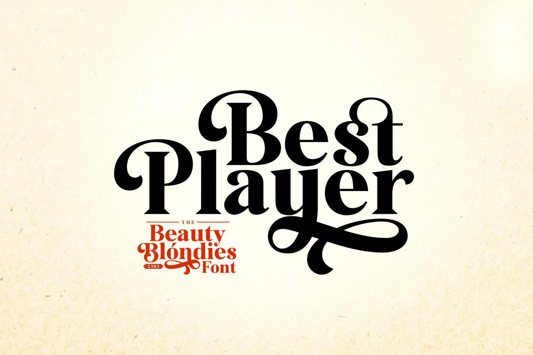 Beauty Blondies Typeface 6