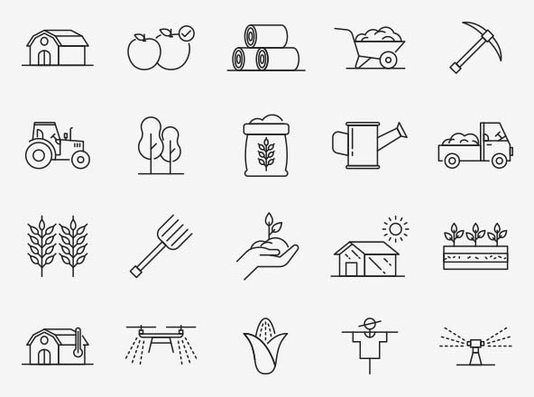 Agriculture Vector Icons