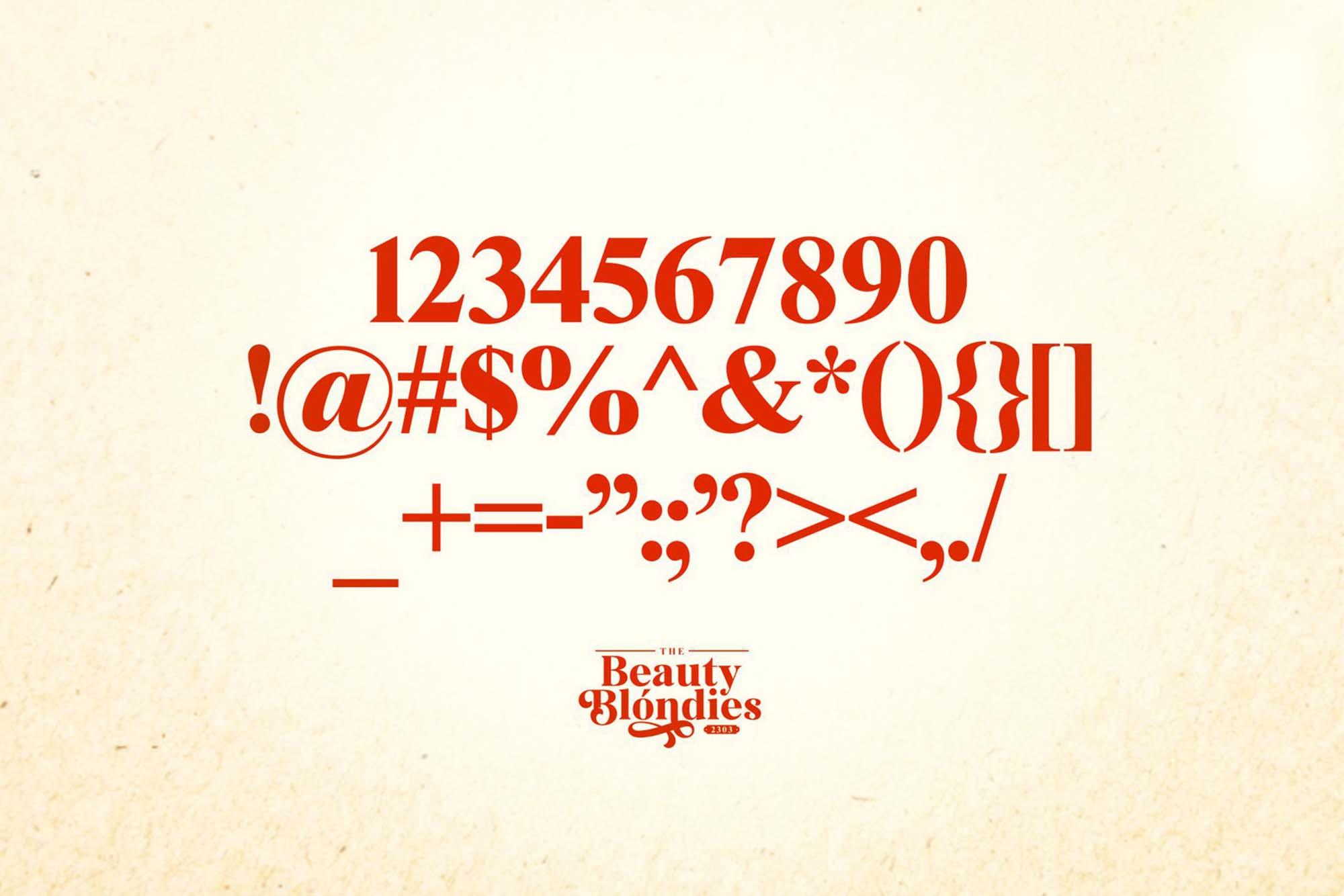 Beauty Blondies Typeface 8